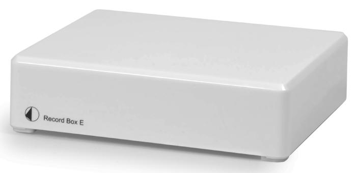 Pro-Ject Record Box E valkoinen, RIAA-korjain levysoittimelle